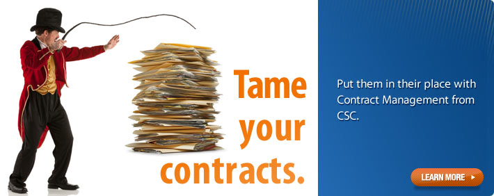 CSC Contract Management and Matter Management - Tame Your Contracts